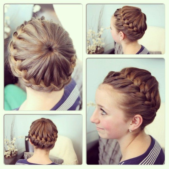 Gymnastics hairstyles for long hair | For the Diva | Pinterest ...