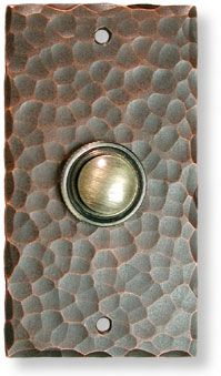 hammered copper wired doorbell craftsman style. & hammered copper wired doorbell craftsman style.   Decorating ... pezcame.com