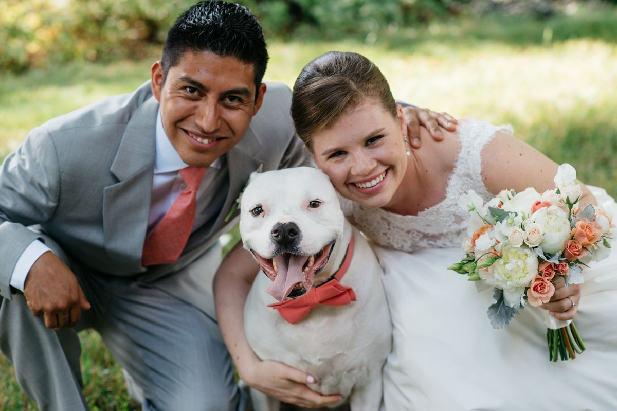 This Fearrington couple made sure their sweet dog didn't get left out of their celebration! | #FearringtonWedding #FearringtonVillage | Photography by @krystalkast