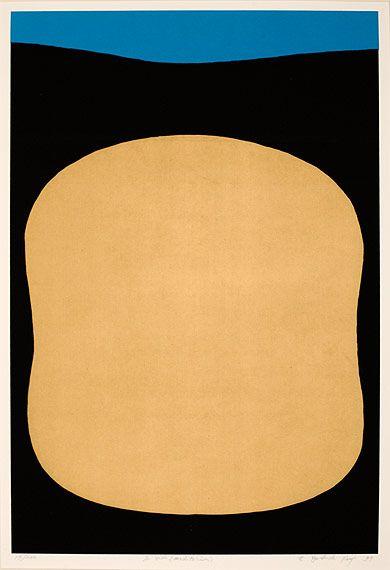 Kenji Yoshida, La Vida (Meditation) II, 1997. Silkscreen on paper, 64 x 45 cm http://decdesignecasa.blogspot.it