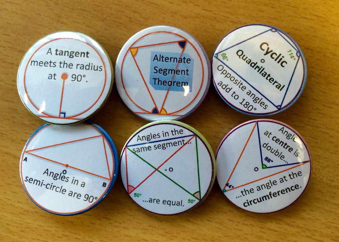 Circle Theorems Maths Badges