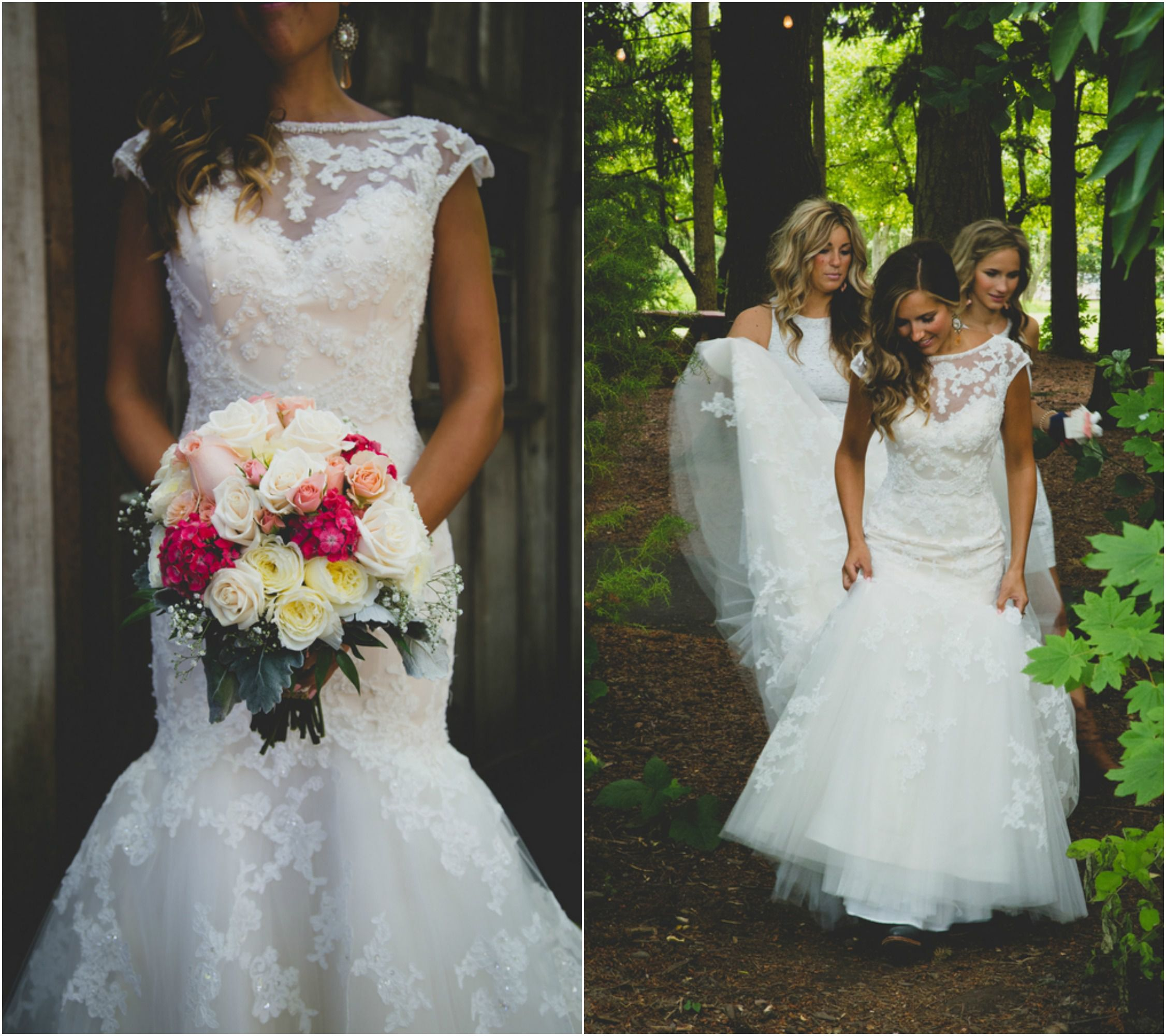 Wedding dresses with cowgirl boots  Wedding With Bridesmaids In Cowboy Boots  Rustic wedding details