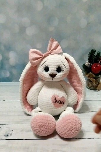 Photo of Crochet bunny pattern, easter bunny pattern, personalized bunny crochet for baby. Amigurumi pattern
