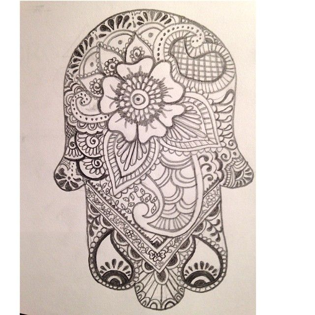 La mano de fatima. Henna patterns.