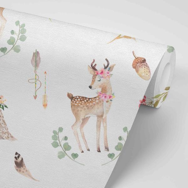 Blakely Woodland Deer Removable Wallpaper Nursery