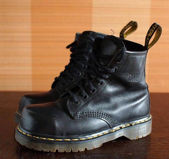 9b4f2f71 Dr Martens Steeltoe INDUSTRIAL platform vintage boots 7eylet DOCS ...