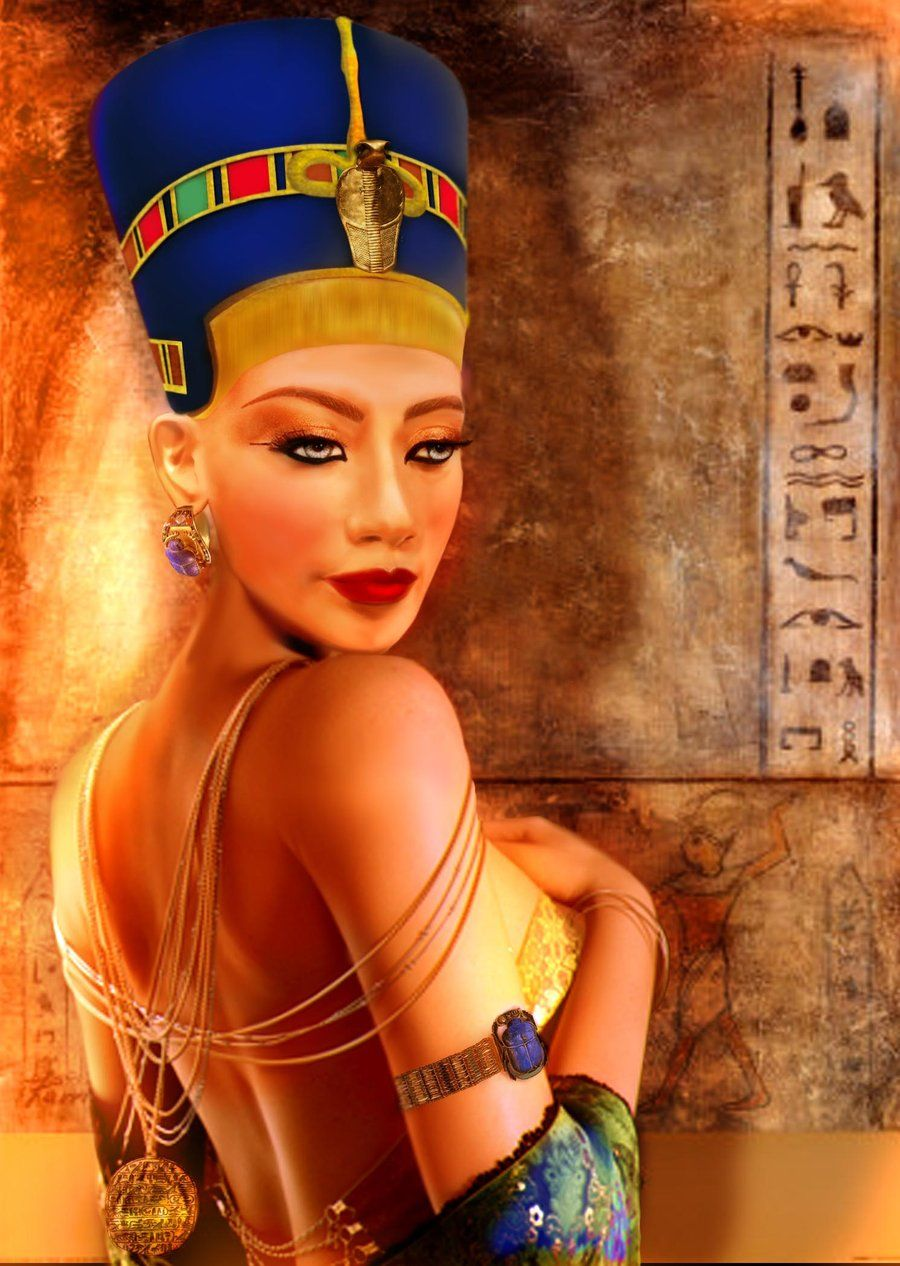 Nefertiti, the Queen of Egypt and wife of Pharaoh Akhenaten. She was a woman of tremendous beauty.