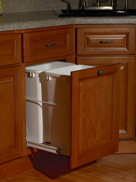 Storage Solution! Trash can Pull out Affordable Kitchen King Holbrook Ma  www.affordablekitchenking.com