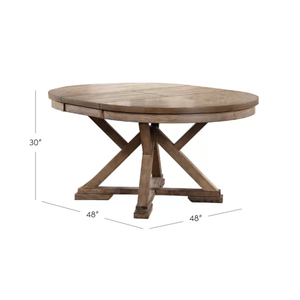 Molena Pedestal Extendable Dining Table Dining Table In Kitchen Round Extendable Dining Table Dining Table
