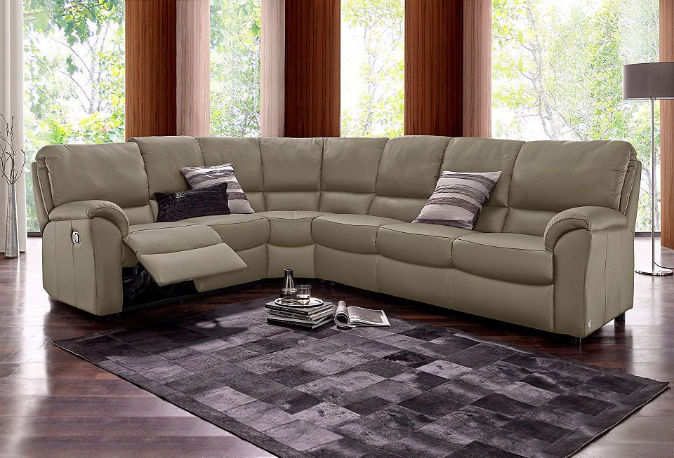 CALIA ITALIA Leder Polsterecke mit Relaxfunktion Jetzt bestellen - Wohnzimmer Braunes Sofa