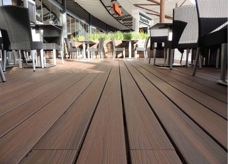Composite wood plastic outdoor decking cost cheap wpc for Cheap composite decking