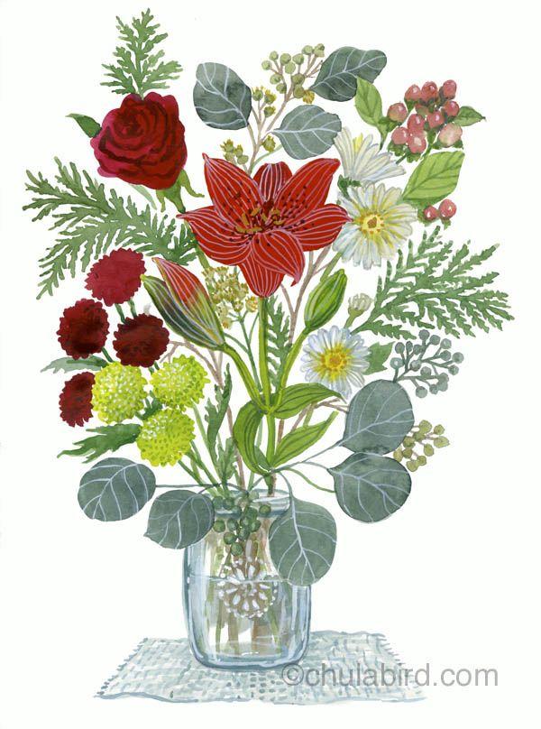 #winter bouquet by chulabird.com