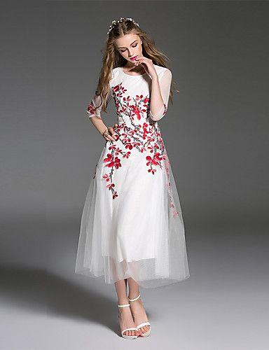 680896ef6 ES Dannuo de las mujeres a salir sencilla un vestido de línea