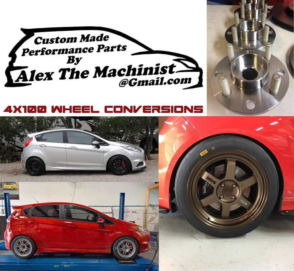 Fiesta St Forum >> Re Drilling Hubs And Rotors To 4x100 And 5x108 Fiesta