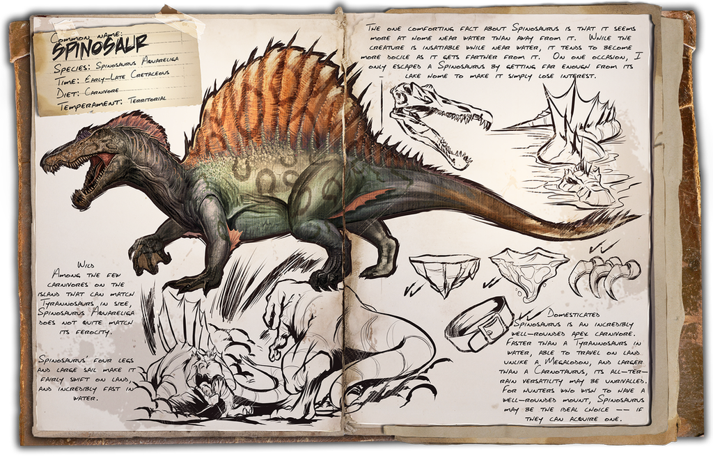 Ark Survival Evolved Dossiers Spinosaur By Djdinojosh On Deviantart Game Ark Survival Evolved Ark Survival Evolved Tips Ark Survival Evolved