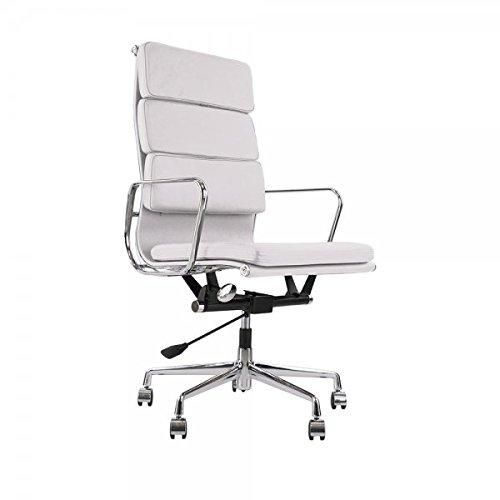 Home Office Deskchairs: High Back Genuine Leather Soft Pad Office Executive Chair