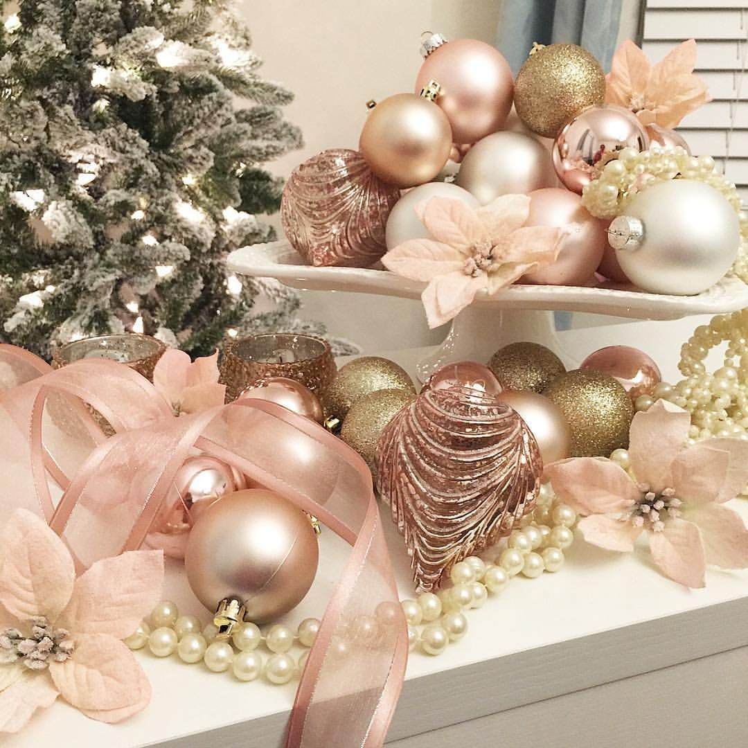 blush christmas decor blush ornaments