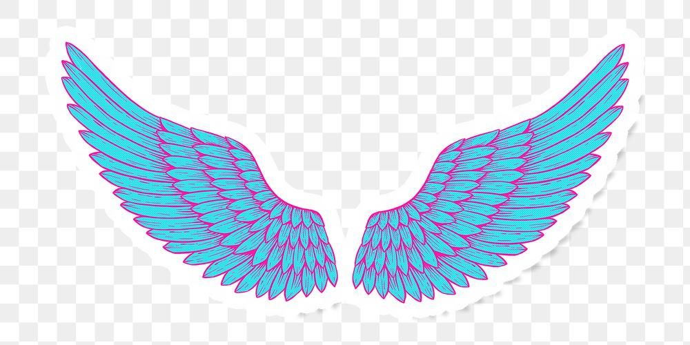 Funky Neon Wings Sticker Overlay With A White Border Design Element Free Image By Rawpixel Com Kappy Kappy Wings Free Illustrations Overlays