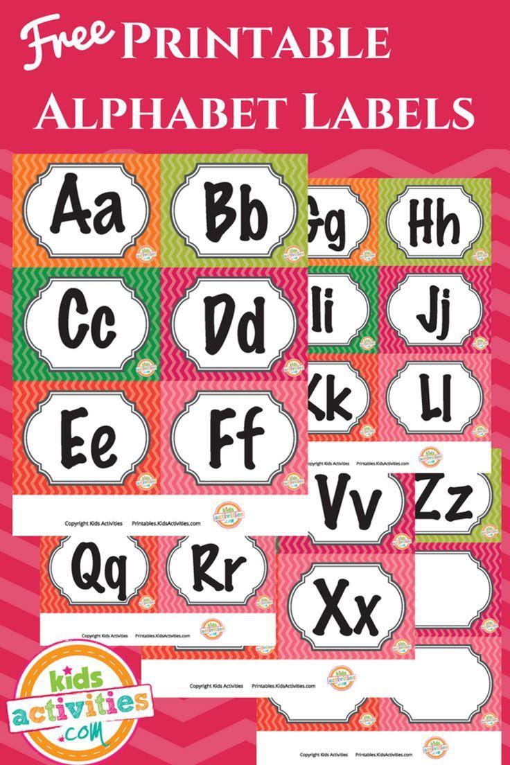 Printable Alphabet Labels - Kids Activities #freeprintable ...