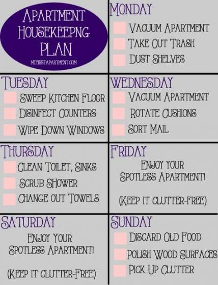 College Roommate Cleaning Schedule