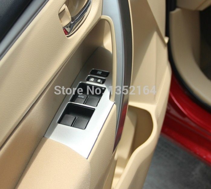 Auto car inner window lifter button trim sticker for toyota ...