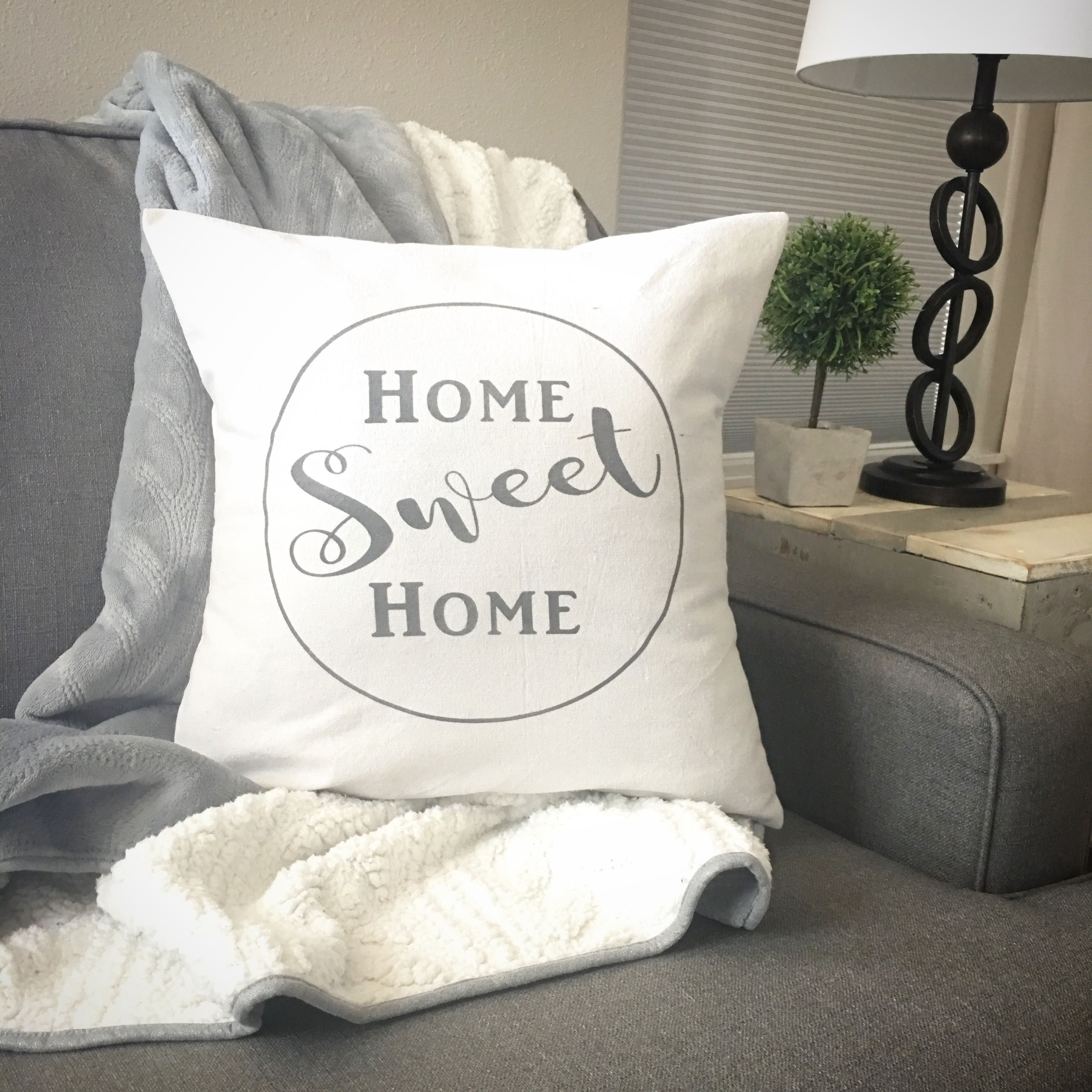 Farmhouse Home Sweet Home Pillow Cover Pillows, Bed