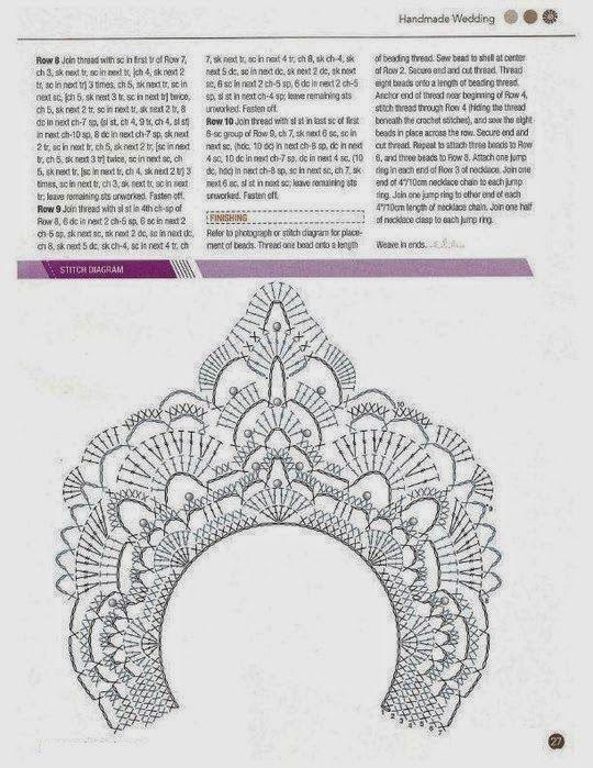 Gargantilla de Crochet en Pico Patron - Patrones Crochet | Mariposa ...