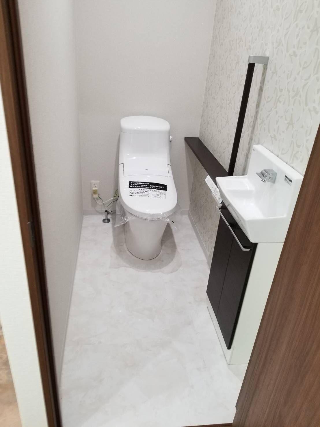 バス トイレ Lixil タイル タイセイホーム リクシルのトイレ などのインテリア実例 2015 12 19 17 08 02 Roomclip ルームクリップ シンプル トイレ インテリア トイレ インテリア