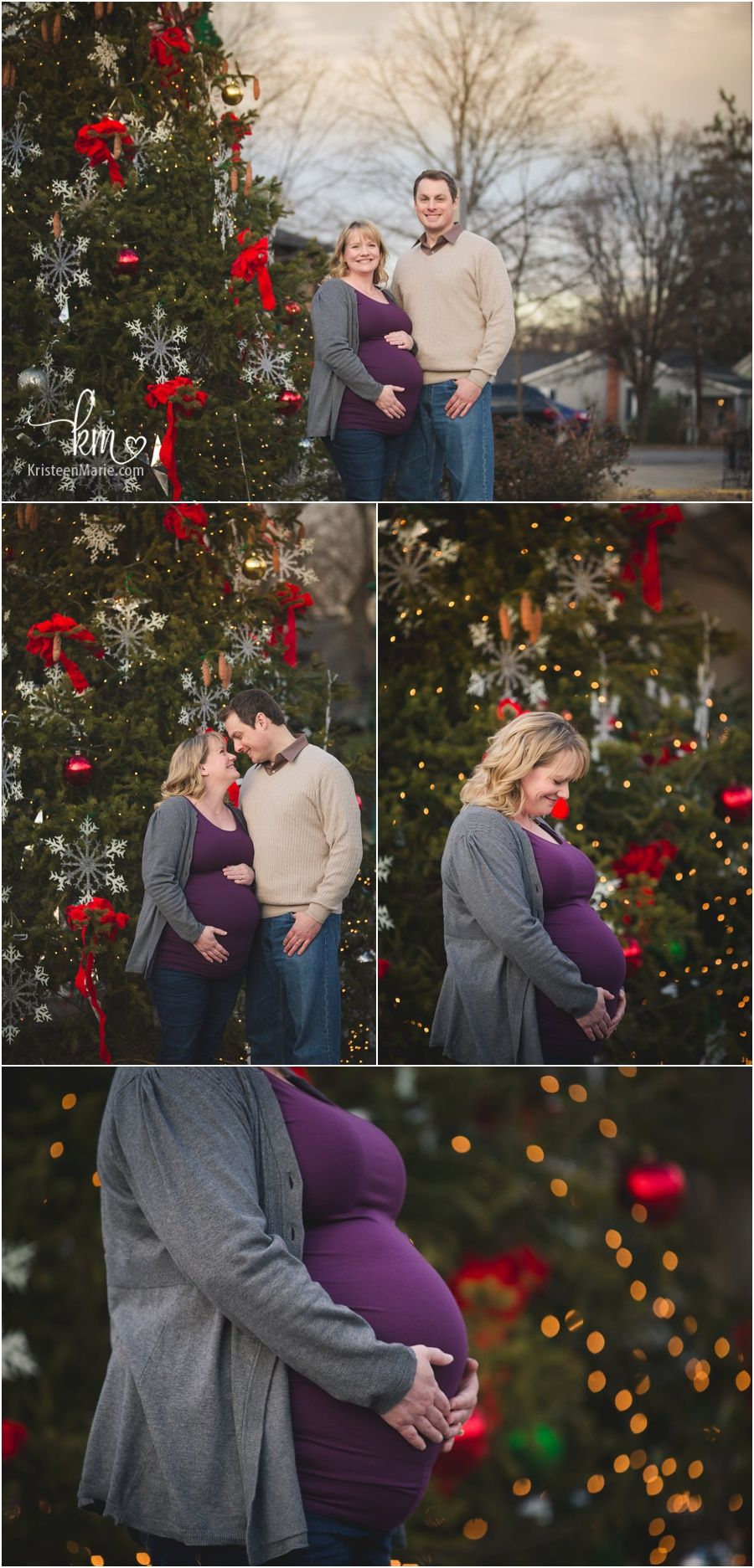 Maternity Session In Downtown Zionsville Indiana Maternity Christmas Pictures Maternity Session Maternity