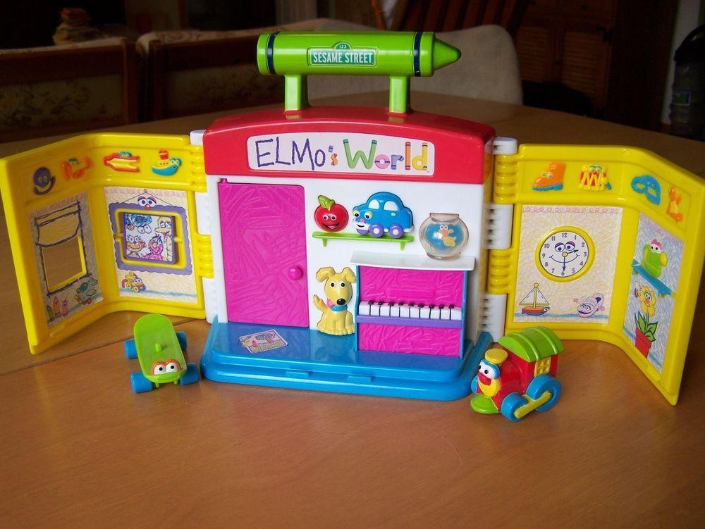 Sesame Street Musical Toys : Sesame street elmo s world talking musical playset ebay