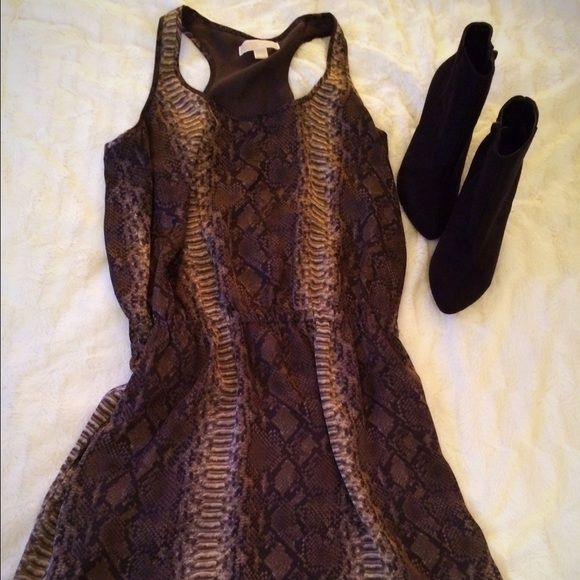 Michael Michael Kors dress Snakeskin print stylish Michael Kors dress. Light weight perfect condition. I am a top-rated seller and fast-shipper  MICHAEL Michael Kors Dresses