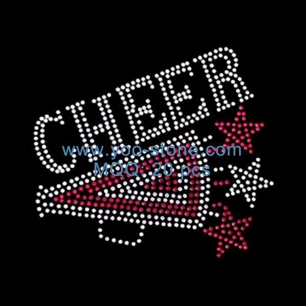 Cheer with Stars Iron on Rhinestone Transfer DIY