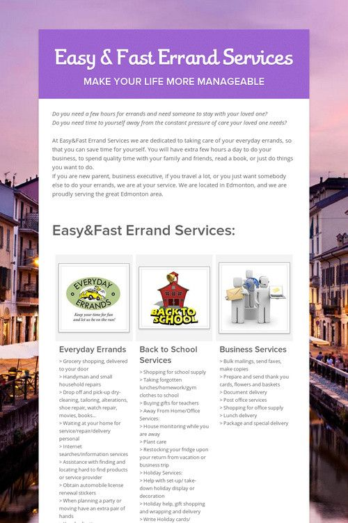 Easy Fast Errand Services Business Flyer Online Start Up
