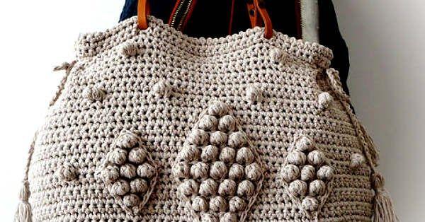 Bolso Crochet con Estilo y Fácil de Tejer / Tutorial | vcaarteras ...