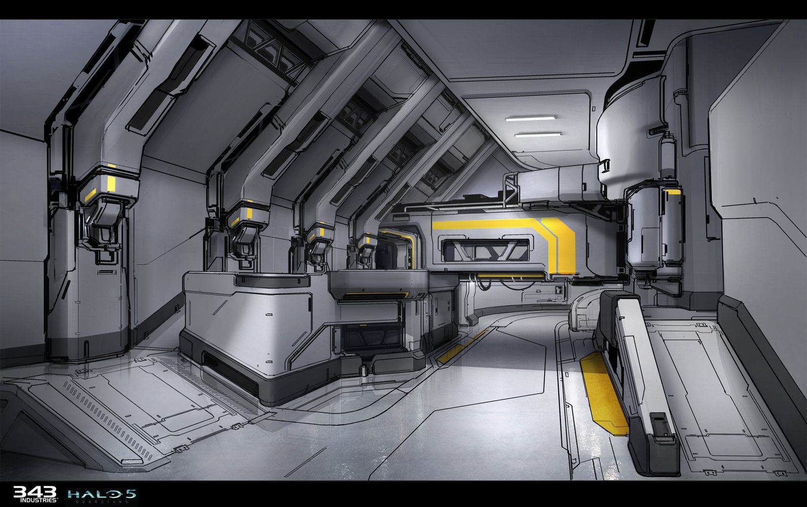 Home Base Interior For Halo 5 Guardians Sam Brown On ArtStation