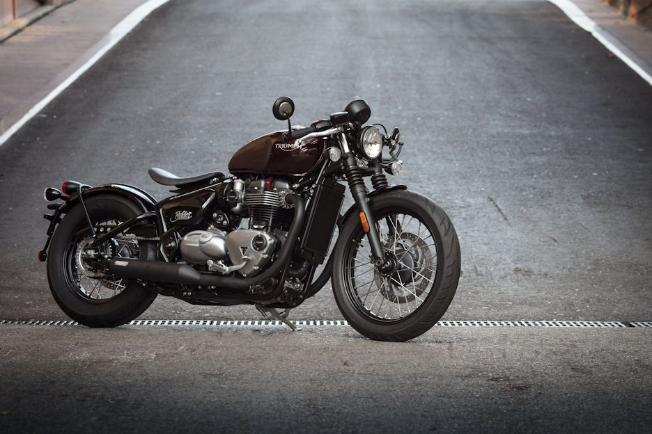 Another Shot Of The Bonneville Bobber Fitted With A Quarter Mile