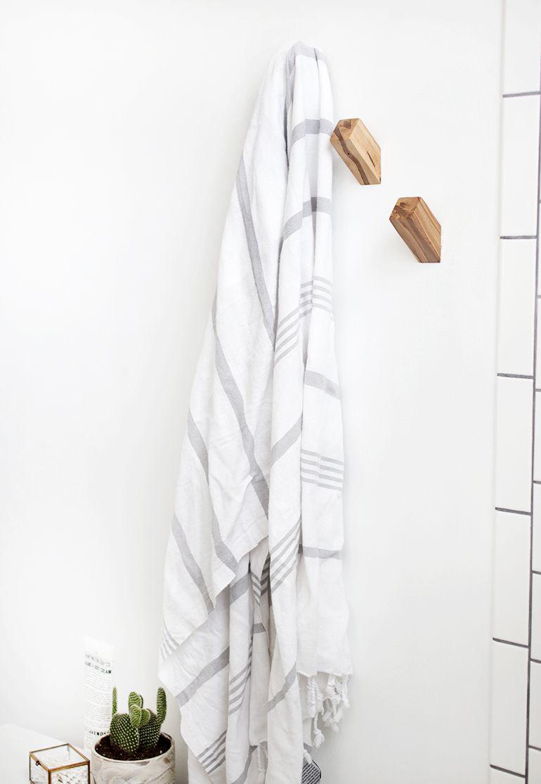 Diy Wood Towel Hooks Towel Hooks Diy Wood Wall Diy Wall Hooks
