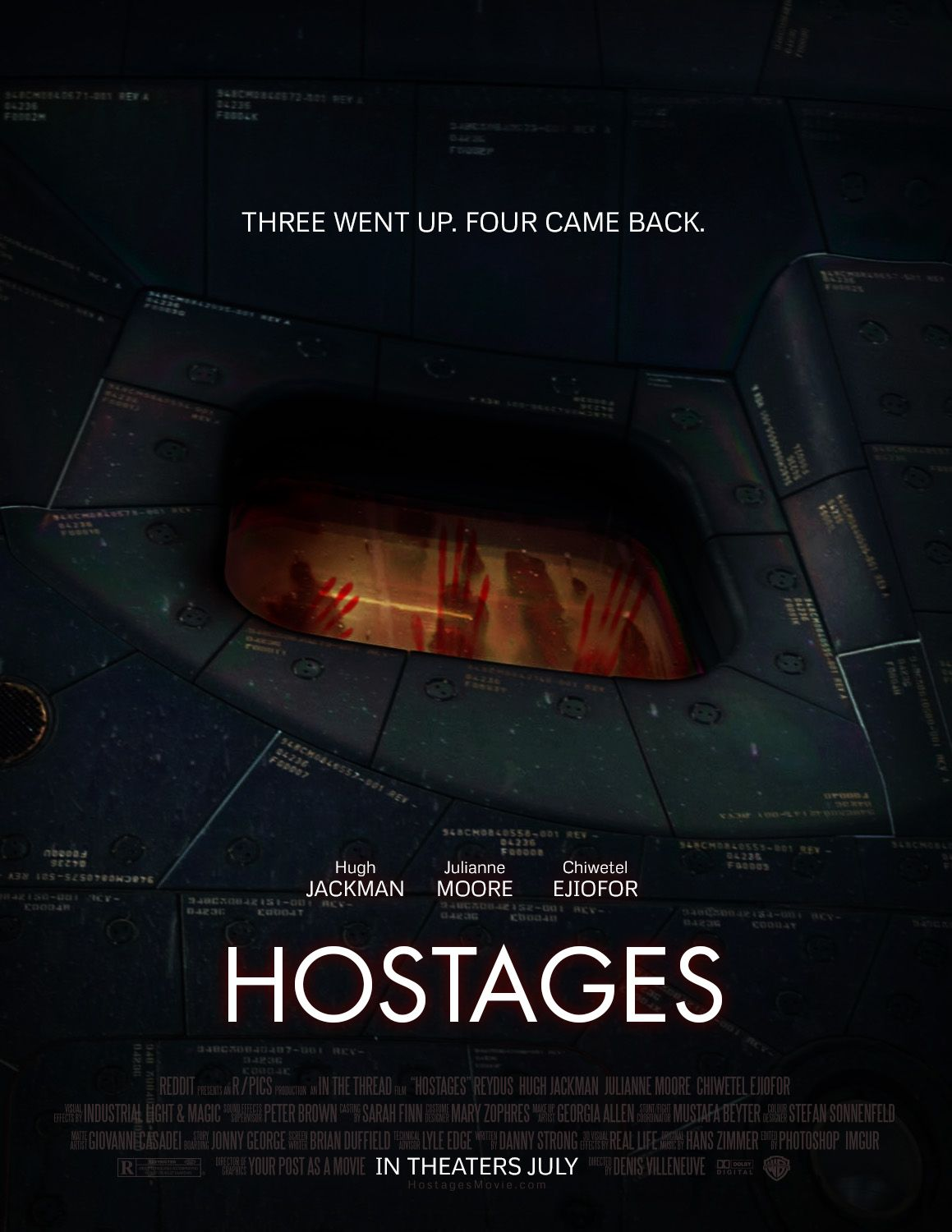 03b. Hostages. Three went up. Four came back. In theaters July.