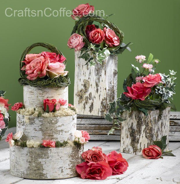 Real Weddings Decorations: A Beautiful Marriage Of Real Birch Bark, Twigs And Silk