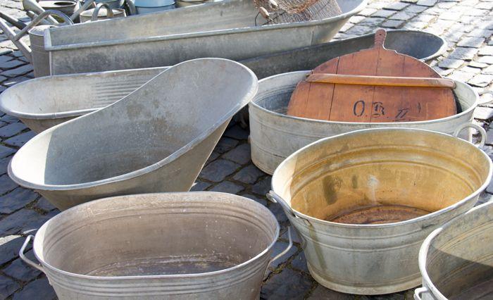 (tilted tub with orange/lemon tree?)  Vintage-Metal-Tubs