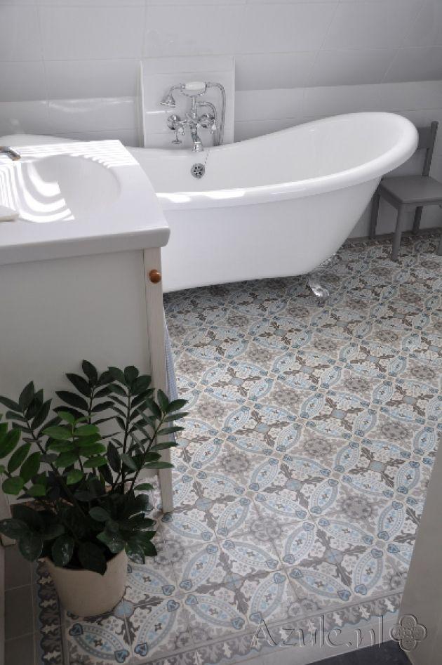 Cementtiles bathroom - OS 06 - OS 10 Border en Corner - Project - fliesen bordre