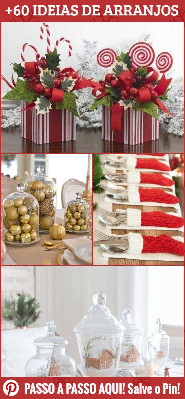 Separamos De 60 Inspiracoes De Arranjos De Natal Para Mesa