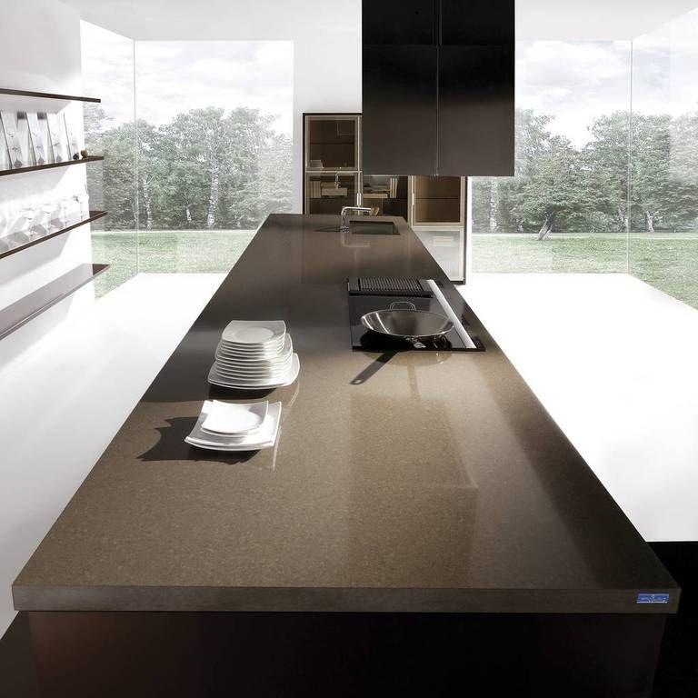 Kuchenarbeitsplatte Agglo Grau Braun Kitchens Pinterest House