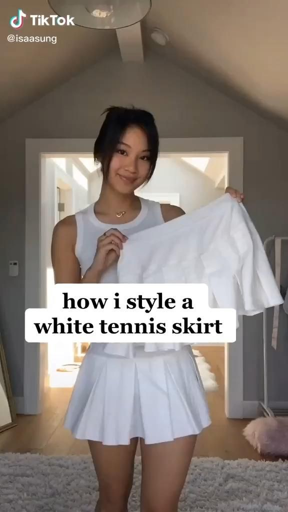 How I Style A White Tennis Skirt Did you know you