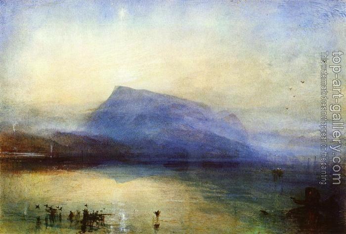 Joseph Mallord William Turner : The Blue Rigi,Lake of Lucerne,Sunrise
