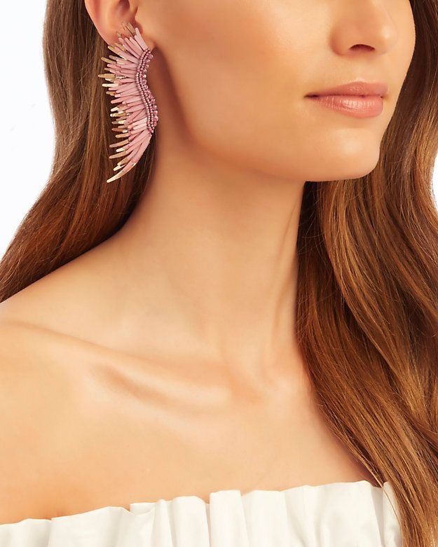 Mignonne Gavigan Beaded Bird Statement Earrings SuhotYxy