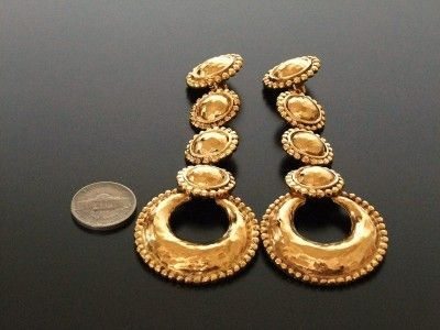 Authentic Chanel Jewelry | Authentic Chanel Vintage gold long swing clip earrings