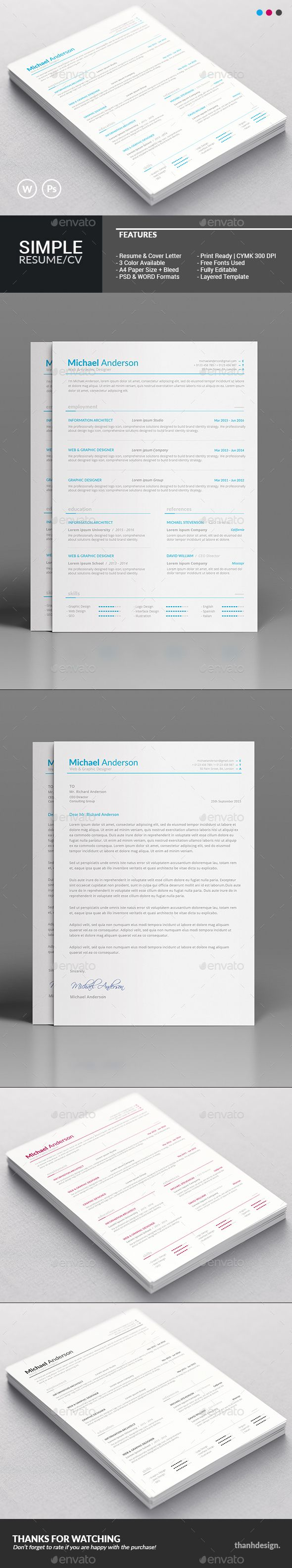 Resume CV & Cover Letter | Cv cover letter, Resume cv and Cover ...