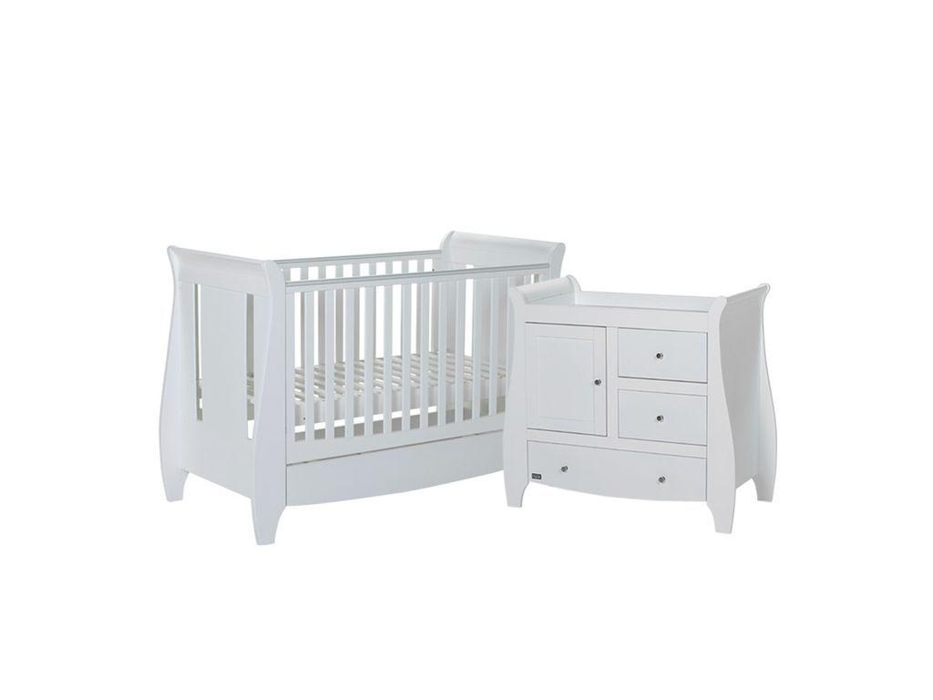 Tutti Bambini Lucas Sleigh 2 Piece Room Set White Nursery