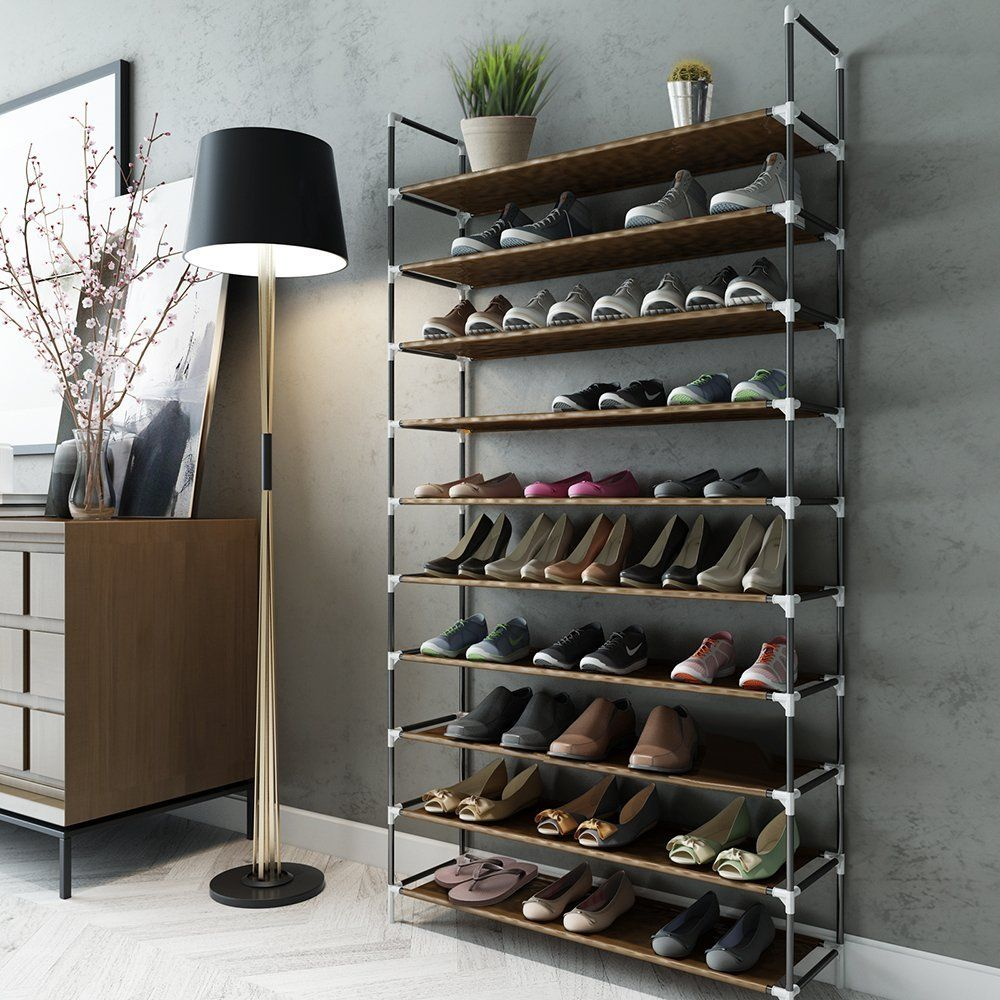 Sable 10 Tiers 50 Pairs Shoe Rack   No Tools Required Best Offer. Best  Price Sable 10 Tiers 50 Pairs Shoe Rack, Space Saving Shoe Organizer, Tower  Shelf ...